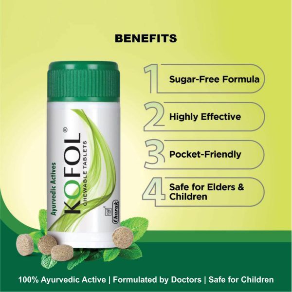Kofol - Ayurvedic sore throat care tablet
