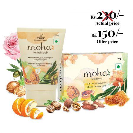 Moha Herbal Scrub and Soap